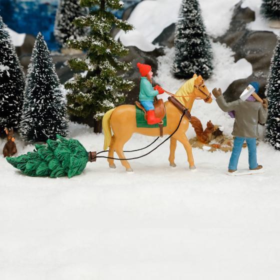 Miniatur-Winterfiguren Vater & Tochter, 2er-Set | #2