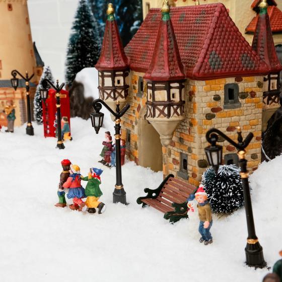 Miniatur-Weihnachtsdorf LED-Straßenlaternen Colonia, 4er-Set | #2