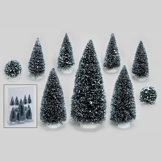Miniatur-Weihnachtsdorf Tannebäume, 9er-Set | #2