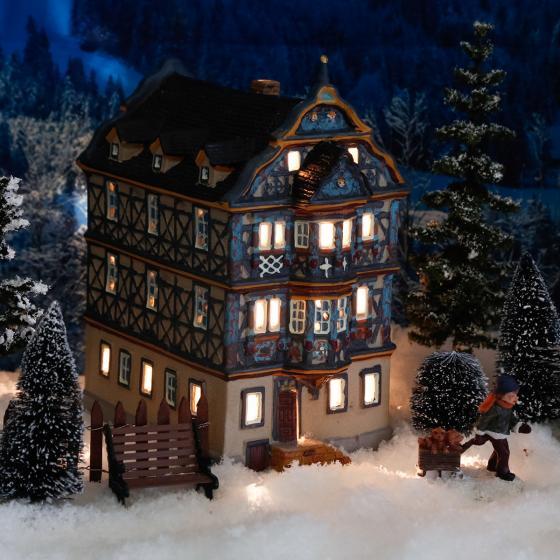 Miniatur-Weihnachtsdorf-Lichthaus Killingerhaus in Idstein,Taunus | #2