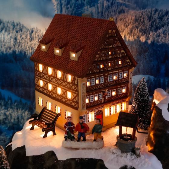 Miniatur-Lichthaus Deutsches Haus in Dinkelsbühl | #2