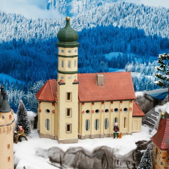 Miniatur-Lichthaus Kirche St. Colomer in Schwangau | #2