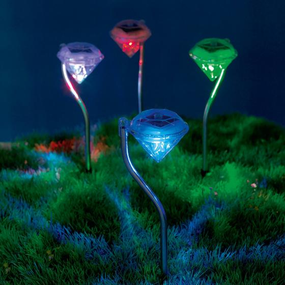 EASYmaxx Solar-Leuchte Diamant, 4er-Set | #2