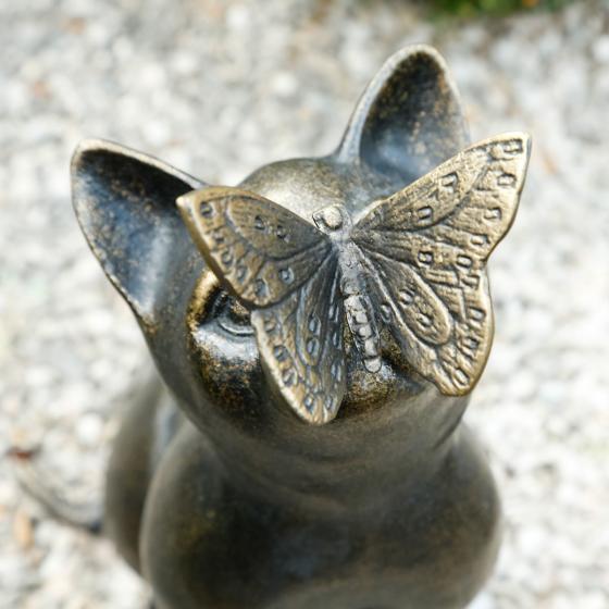 Deko-Figur Katze Fienchen mit Schmetterling | #2