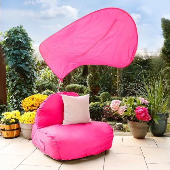 Sitzsack Flexi mit Sonnensegel, pink | #2
