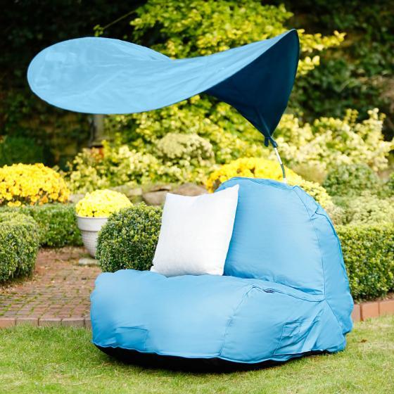 Sitzsack Flexi mit Sonnensegel, blau | #2