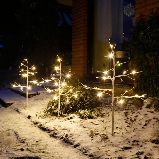 LED-Bäume Wintermärchen, 3er-Set, 87x45 cm, Kunststoff, weiss | #2