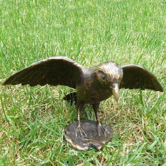 Bronze-Figur Vogel Merlin | #2