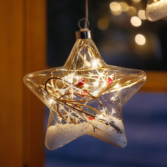 LED-Fensterdeko Schneestern, 3er-Set | #2