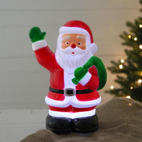 Star LED-Gartenstecker Weihnachtsmann, 28x18x11 cm, Kunststoff, bunt | #2
