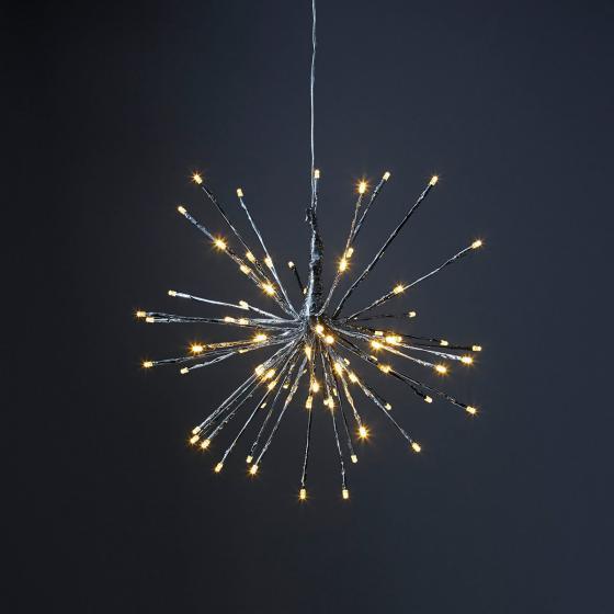 Star LED-Leuchtstern Winter-Feuerwerk, 40 cm, Metall und Kunststoff, silber | #2