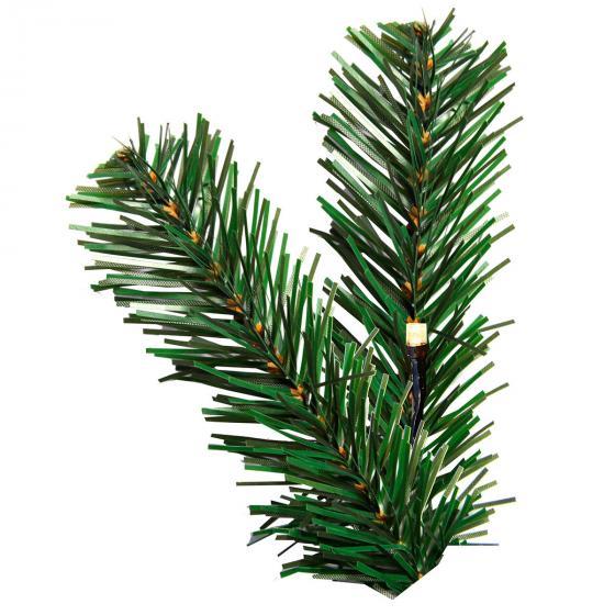 LED-Außen-Weihnachtsbaum Grüne Pracht, 1210x120x120 cm, Kunststoff, grün | #2