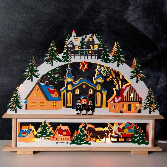 Fensterleuchter Winterwelt; 34x45x6 cm, Holz, bunt | #2