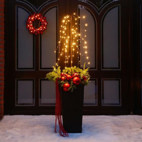 LED-Türkranz Christmas Time, 36 cm, Kunststoff, rot | #2