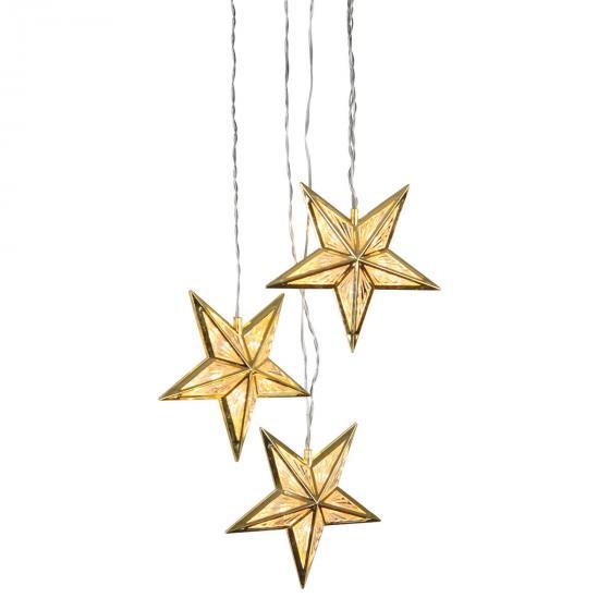Star LED-Sternentrio Wintergold, 380x16x16 cm, Kunststoff, gold | #2