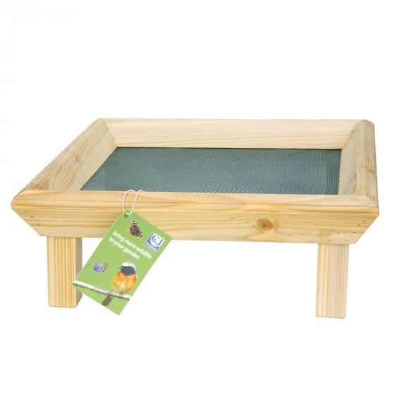 Futtertisch zur Bodenfütterung, 32x32x12 cm, Holz, natur | #2