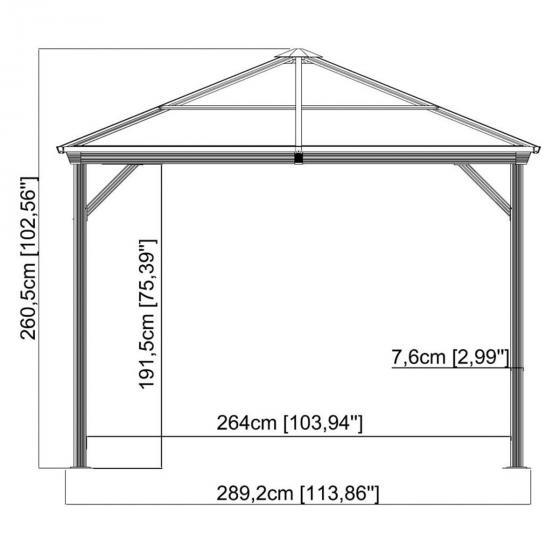 Pavillon Ventura 10x10, 260x296x296 cm | #2