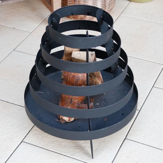 Feuerkorb Spirelli, 49,5x50x50 cm, Eisen, schwarz | #2