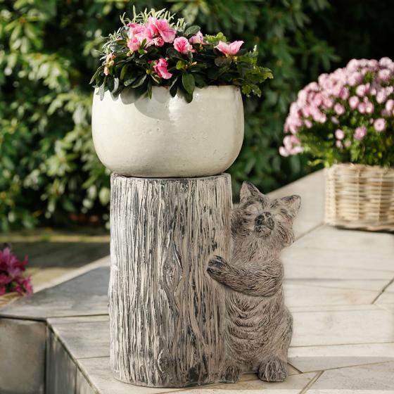 Pflanzenhocker Citty Cat, 44x22x23 cm, Fiberglas, grau | #2