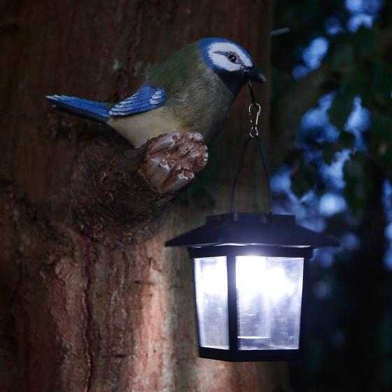 Solarlampe neugieriger Vogel, 16x11,5x17 cm, Polyresin | #2