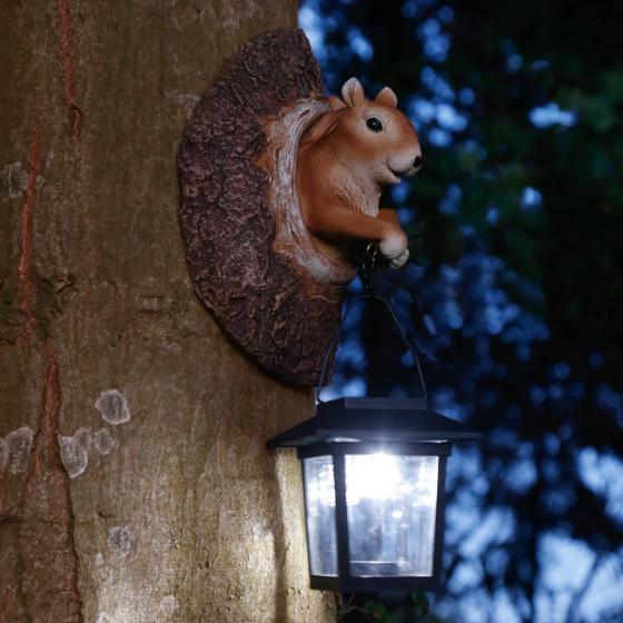 Solarlampe neugieriges Eichhörnchen, 11,5x12,5x19,5 cm, Polyresin | #2