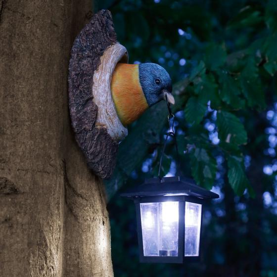 Solarlampe Baumspatz, 11x13,5x19,5 cm, Polyresin | #2