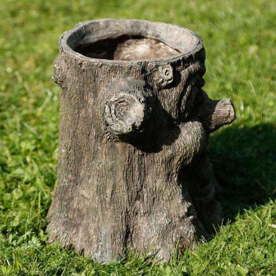 Pflanzkübel Baumstumpfgesicht Woody, 26x24,5x28,5 cm, braun | #2