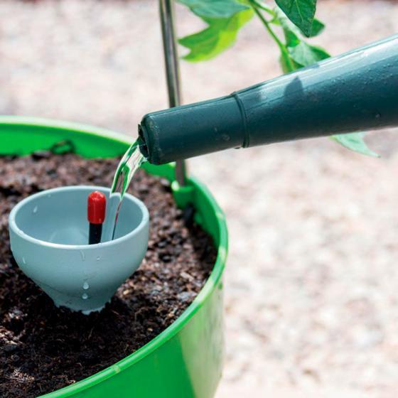 Tomaten-Pflanzturm Grow Tower, Durchmesser 28 cm, H 32 cm, Stütze 120 cm, grün | #2