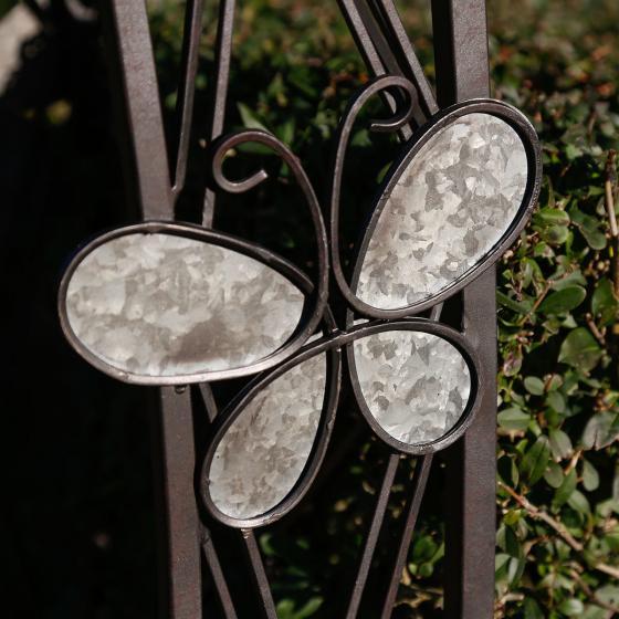 Rosenbogen Schmetterling, 226x43,5x141 cm, Eisen, rost-optik | #2