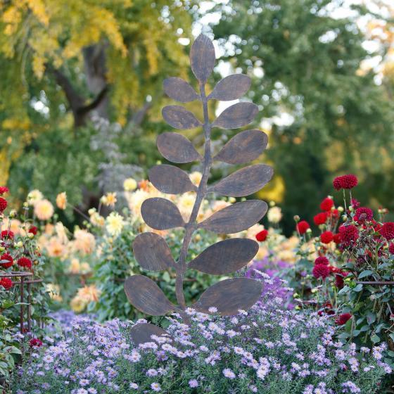 Gartenstecker Pflanzenast, 170x1,5x53 cm, Eisen, rost-braun | #2