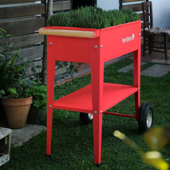Herstera Urban Garden mit Rädern, rot, 75x35x80 cm | #2