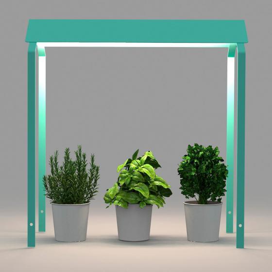 Herstera Überdachung für Hochbeet Urban Garden, mintgrün, 75x35x80 cm | #2
