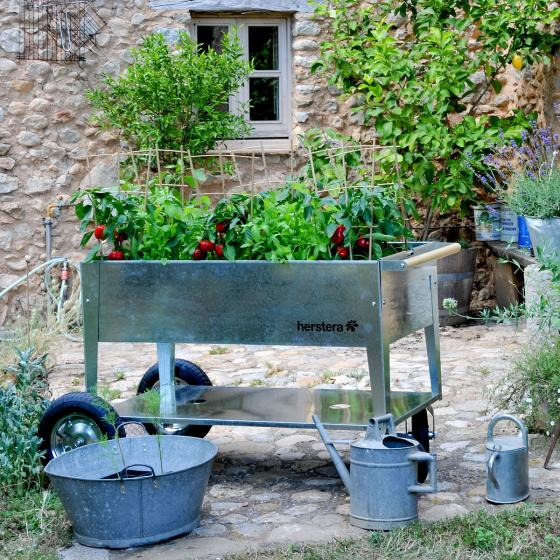 Hochbeet Garden Swivel, silber, 120x60x80 cm | #2