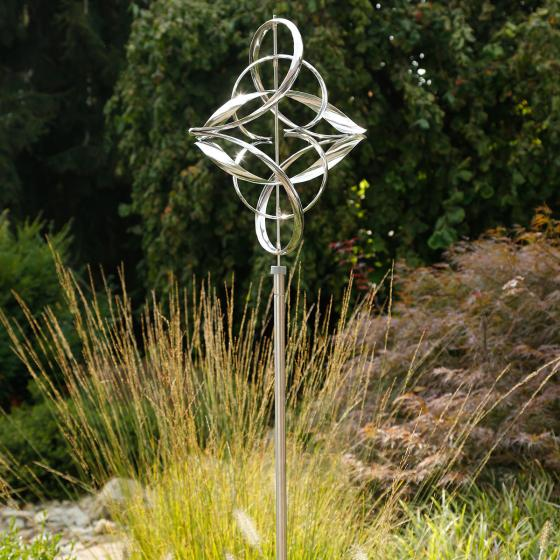Windspiel Wave, 170x60x50 cm, Edelstahl, silber   #2