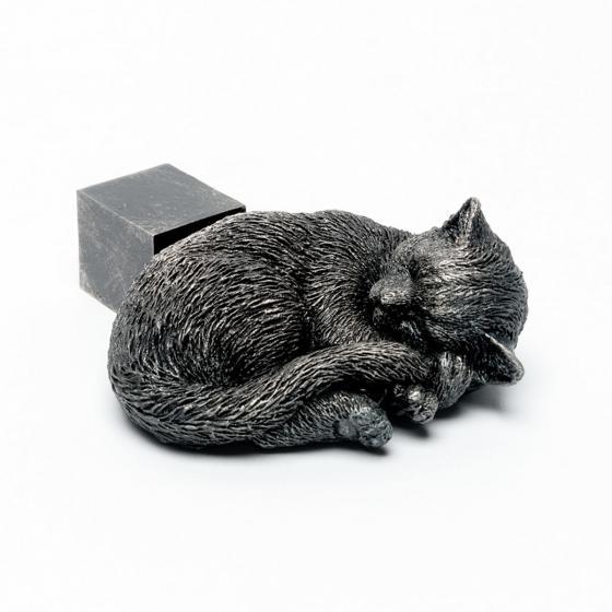 Kübelfuß Bronzeoptik 3er-Set Kätzchen, 3,5x9x11 cm | #2