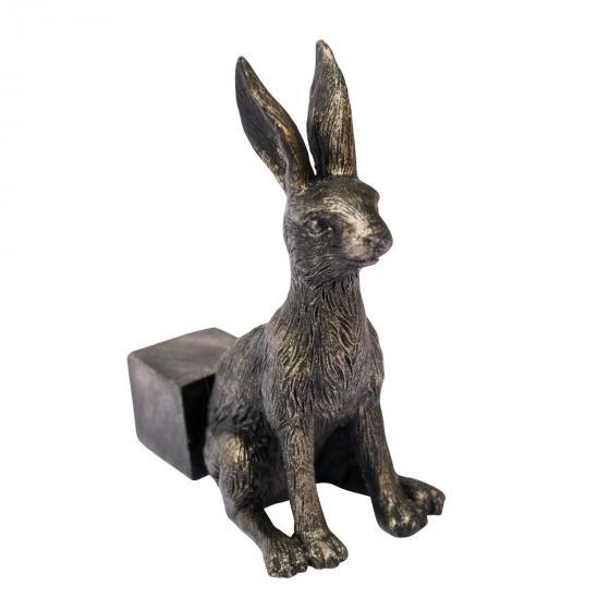 Kübelfuß Bronzeoptik 3er-Set Häschen, 7x3,5x8 cm | #2