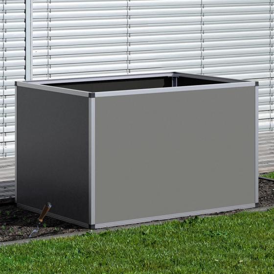 Aluminium-Hochbeet anthrazit, silber 130, 121x91x77 cm | #2