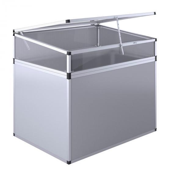 KGT Aluminium-Hochbeet 130, anthrazit/silber,  mit Frühbeetaufsatz, 121x91x109 cm | #2