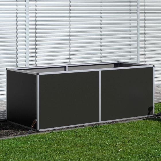 KGT Aluminium-Hochbeet 210, anthrazit /silber, 205x91x77 cm | #2