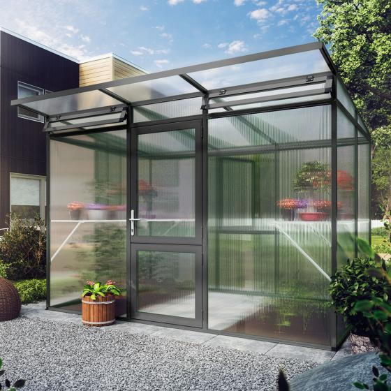KGT Gewächshaus Linea II  297 x 217 cm, anthrazit-grau | #2