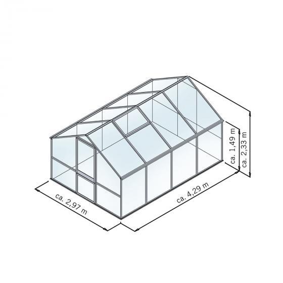 KGT Gewächshaus Tulpe IV 297 x 429 cm, pressblank | #2