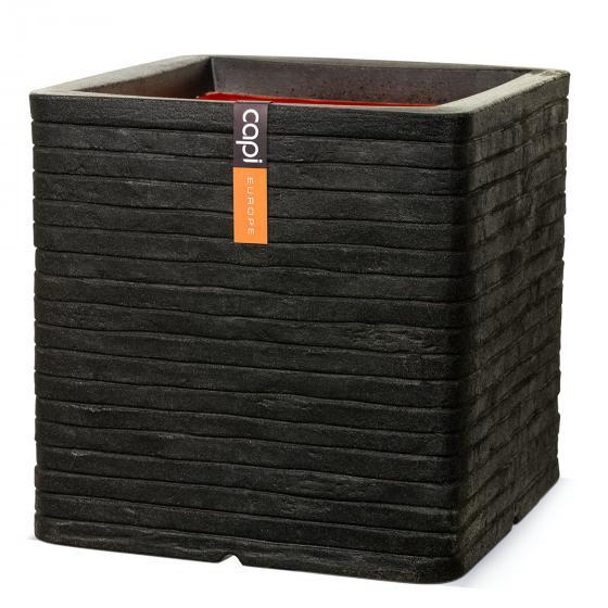 Pflanzkübel ROW quadratisch, 30x30x30 cm,  schwarz | #2