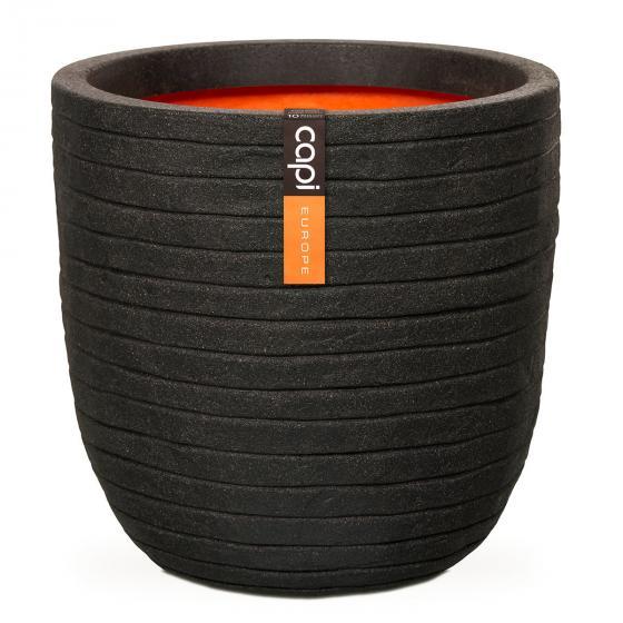 Capi Pflanzkübel ROW rund, 41x43x43 cm, schwarz | #2