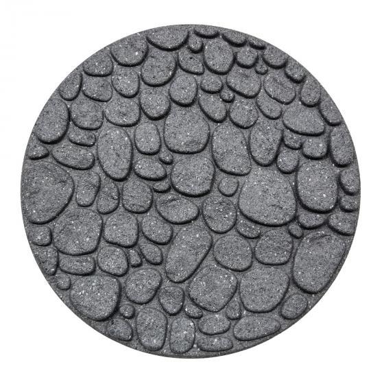 Trittstein Flussstein 4er-Set, 45x45 cm, Gummi, grau | #2