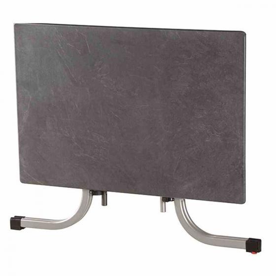 Slim Klapptisch, rechteckig, 72x120x80 cm, silber | #2