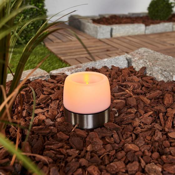 Solar-LED-Leuchte Tanis, 8,5x8,9x8,9 cm, Edelstahl, silber | #2