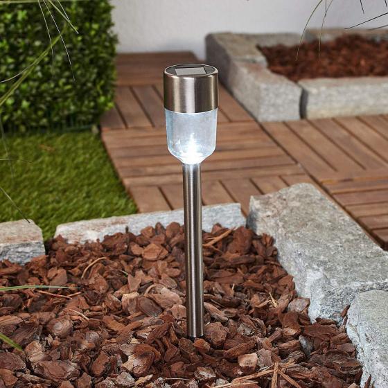 LED-Solarleuchten Maarten, 10er Set, 35,5x6,1x6,1 cm, Edelstahl, silber | #2