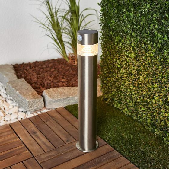 Solar-LED-Sockelleuchte Kalypso mit Bewegungsmelder, 50x7,8x7,8 cm, Edelstahl, silber | #2