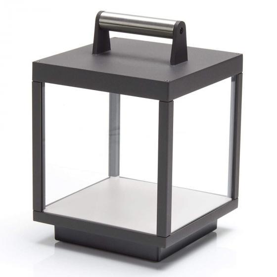 LED Tischleuchte Cube, 26,7x18x18 cm, Aluminium, grau | #2