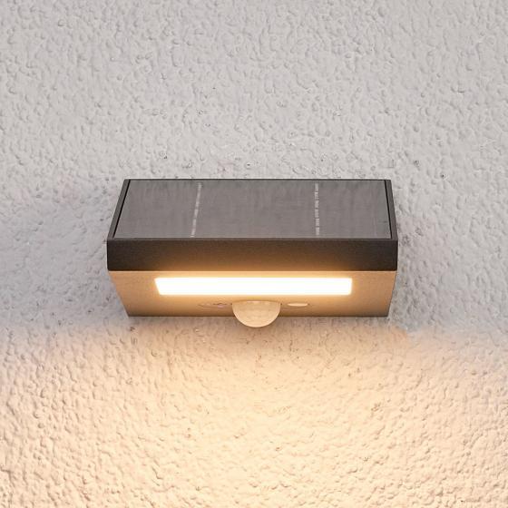 Solar-LED-Außenwandleuchte Felin mit Bewegungsmelder, 6,6x12,5x14,5 cm, Aluminium, grau | #2